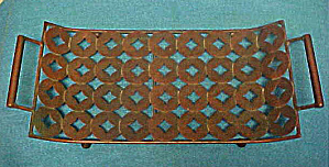 Metal Tray With Handles - Decorative (Image1)
