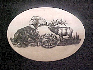 Montana Centennial Engraved Belt Buckle