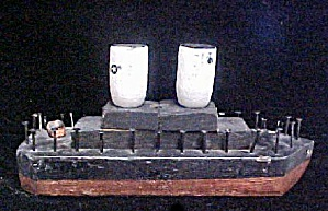 Old Primitive Folk Art Ship
