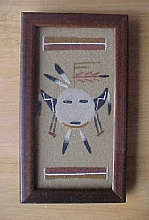 Older Navajo Warrior Sand Painting (Image1)