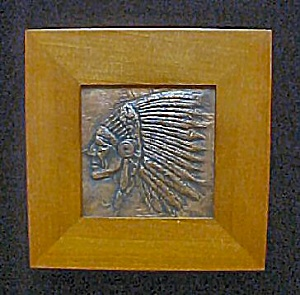 Metal Indian Head In Full Headdress (Image1)