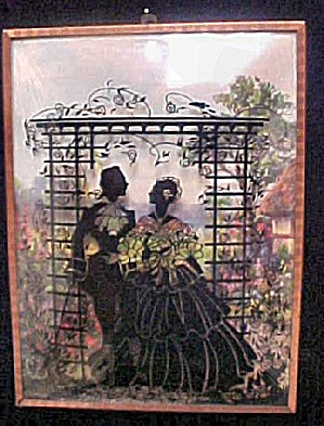 Vintage Silhouette Man/Woman Under Arbor (Image1)