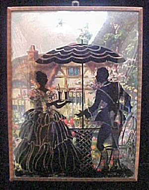 Vintage Man/Woman Silhouette Picture (Image1)