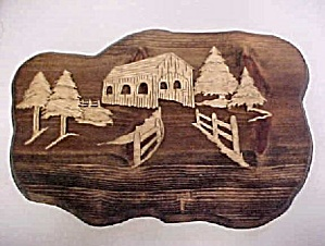 Wood Wall Plaque - 3D Design (Image1)