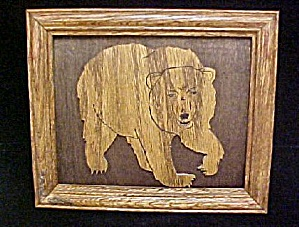 Wooden Bear Art - Framed (Image1)