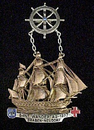 Vintage Sailing Ship Souvenir Pin - Germany (Image1)