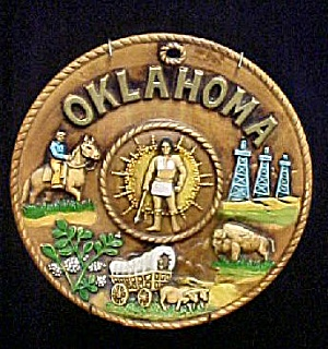 Oklahoma Ceramic Souvenir Plate - (Image1)