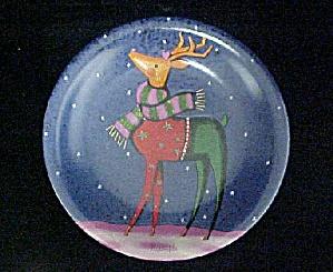 Santa's Rudolph Reindeer Ceramic Plate (Image1)