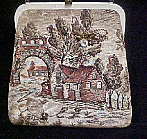 Scenic Tapestry Handbag w/Accents (Image1)