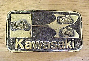 1970's Kawasaki Motorcycle Belt Buckle