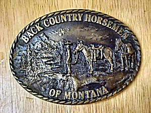 Back Country Horsemen of Montana Belt Buckle (Image1)