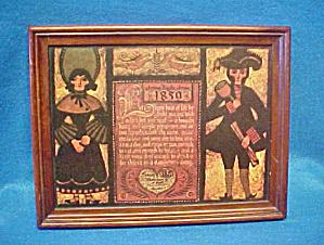 Framed Folk Art Print on Board (Image1)