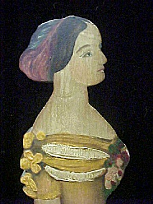 Carved/Hand Painted Victorian Woman Figure (Image1)