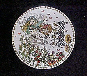 Folk Art Angel Watering Her Garden Tin (Image1)