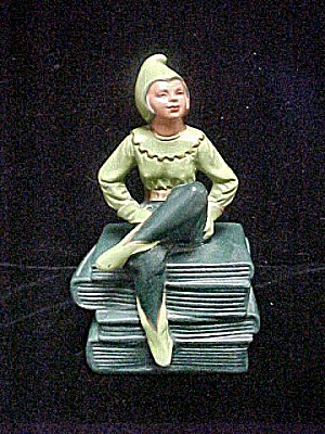 Vintage Charming Female Pixie Bookend (Image1)