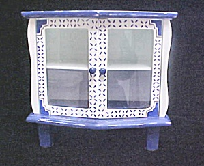 Small Display Cabinet - Blue/White (Image1)