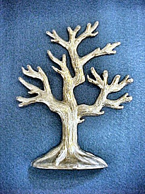 Silver-toned Jewelry Display Tree