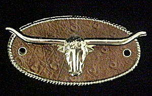 Long Horn Steer Belt Caddy/holder