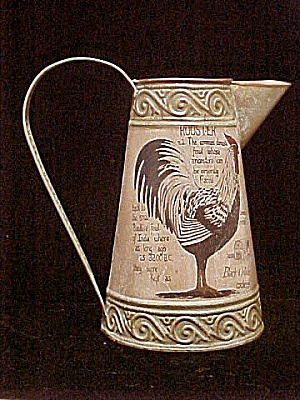Tin Pitcher W/rooster