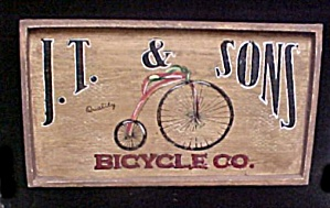 J.T. & Sons Bicycle Co. - Wood Sign (Image1)
