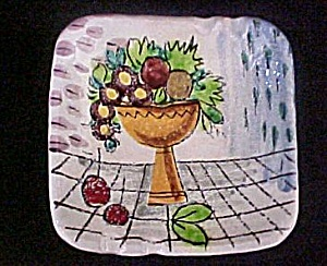 Italian Ceramic Still-life Design Ashtray