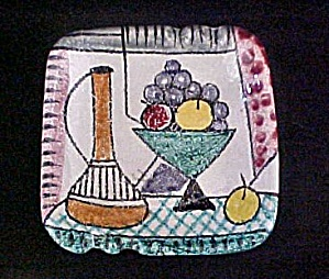 Italian Still-Life Design Ceramic Ashtray (Image1)