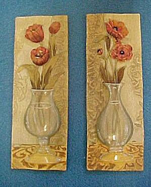 Pair Vases w/ Flowers (Image1)