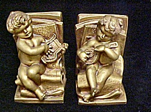 Vintage Cherub Bookends