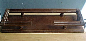 Vintage Wooden Display Stand w/Railing (Image1)