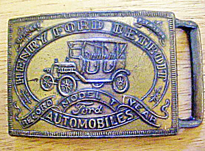 Henry Ford Mode T Year Belt Buckle