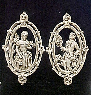 Vintage Male & Female Wall Plaques (Image1)