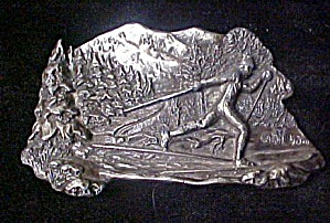 Cross Country Skier Belt Buckle (Image1)