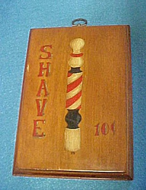 Vintage Wooden Shaving Sign (Image1)