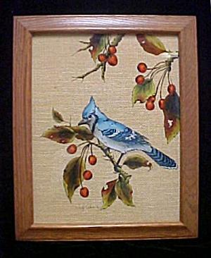 Reverse Painting -  Blue Jay (Image1)