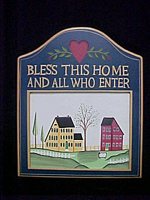 Wooden Plaque - Bless This Home (Image1)