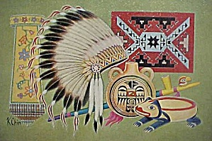 Indian Artifacts No. 2 Giclee Print - Framed (Image1)
