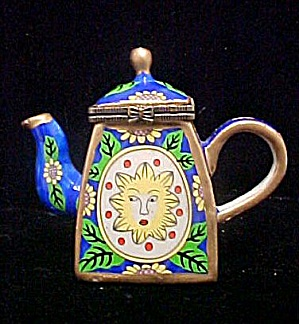 Mini Hinged Trinket Box - Tea Pot (Image1)