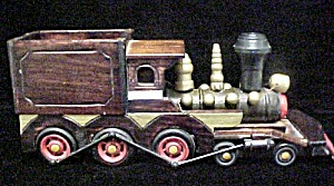 Wooden Train Engine W/laquer Finish