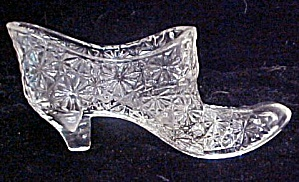 Glass Daisy & Button W/bow Shoe