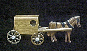 Wooden Horse & Carriage