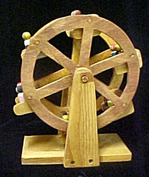 Wooden Ferris Wheel W/people