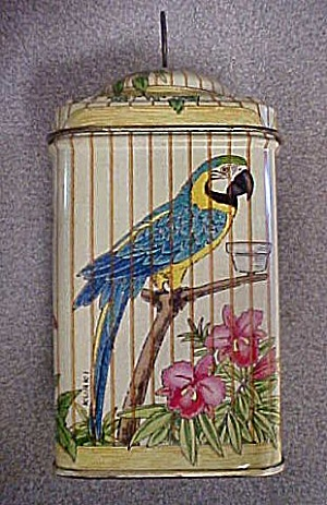 Vintage Bird Cage Design Style Tin