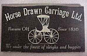Horse Drawn Carriage Primitive Wood Sign (Image1)