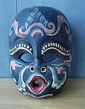 19th Century Balinese Wood Mask (Image1)