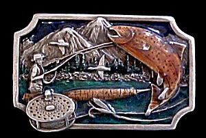 Fly fishing Belt Buckle - Siskiyou (Image1)