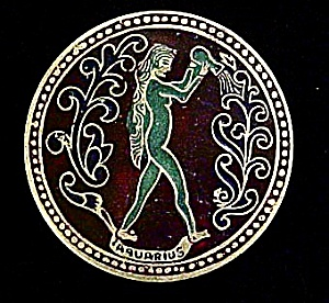Aquarius Enameled Metal Belt Buckle (Image1)