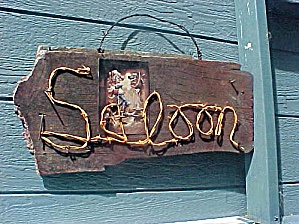 Western Saloon Bar Sign - Barn Wood