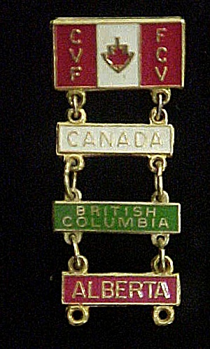 Canadian Metal Pin - Featuring Bc And Alberta