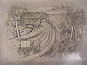 Horse/Buggy and Covered Bridge Tray (Image1)