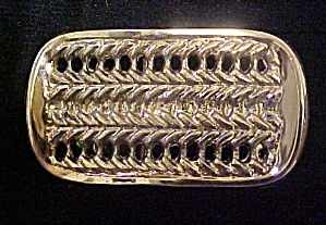 Braided Textured Belt Buckle - Gold Toned (Image1)